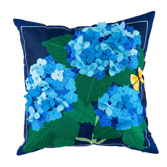 Hydrangea Blossoms Interchangeable Pillow Cover by Evergreen