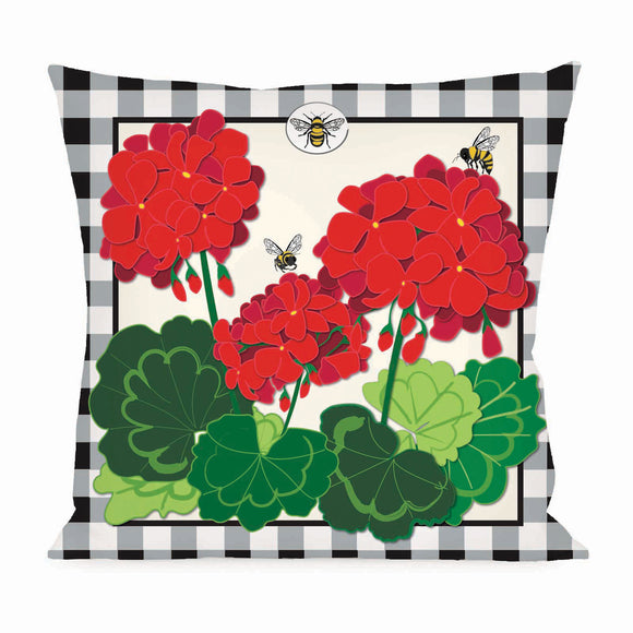 Geranium Plaid Interchangeable Pillow Cover