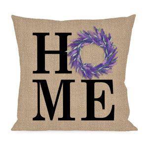 HOME Lavender Wreath Interchangeable Pillow Cover by Evergreen