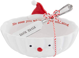 Santa Dip Bowl Set by Mud Pie