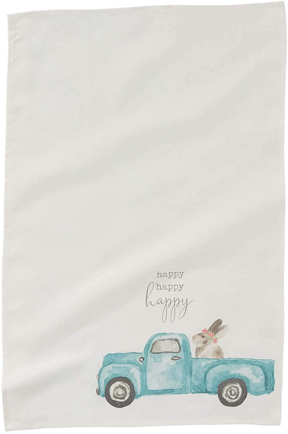 Happy Easter Watercolor Bunny Towels by Mud Pie