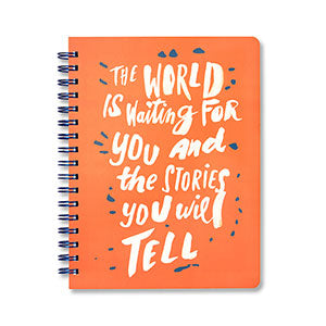 The World Is Waiting For You And The Stories You Will Tell Journal by Compendium - D & D Collectibles