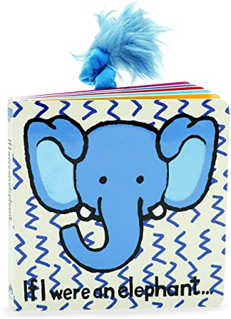 JellyCat If I Were An Elephant Board Book - D & D Collectibles