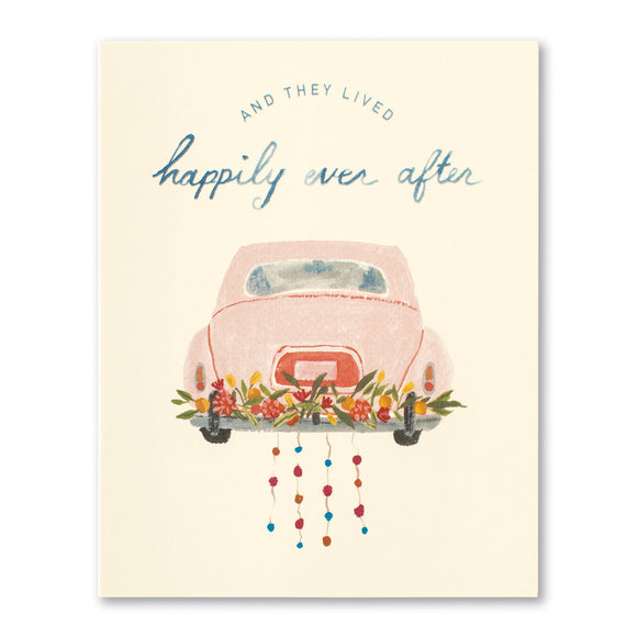 And They Lived Happily Ever After Wedding Greeting Card by Compendium - D & D Collectibles
