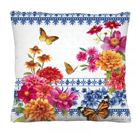 chinoiserie garden pillow Interchangeable Pillow Cover by Evergreen