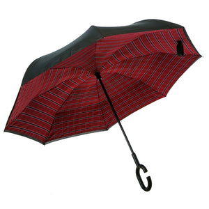 Plaid Inverted Umbrella - D & D Collectibles