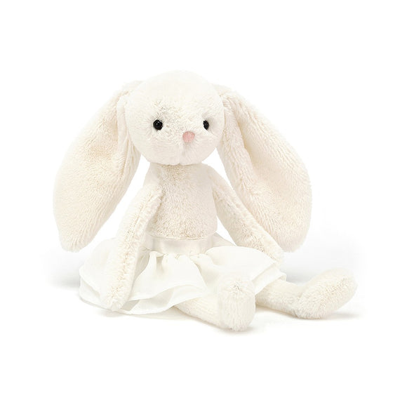Arabesque Bunny Cream Plush by JellyCat - D & D Collectibles