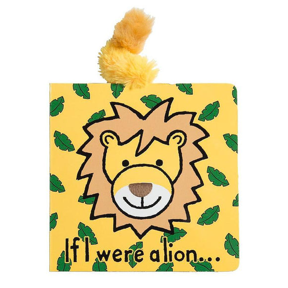 JellyCat If I Were A Lion Board Book - D & D Collectibles