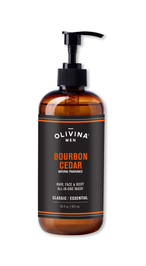 Olivina All in One Wash Bourbon Cedar 16 oz Made in the USA - D & D Collectibles