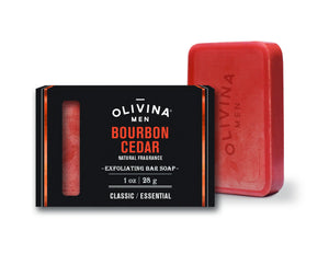 Olivina Bourbon Cedar Bar Soap 1 oz Made in the USA - D & D Collectibles