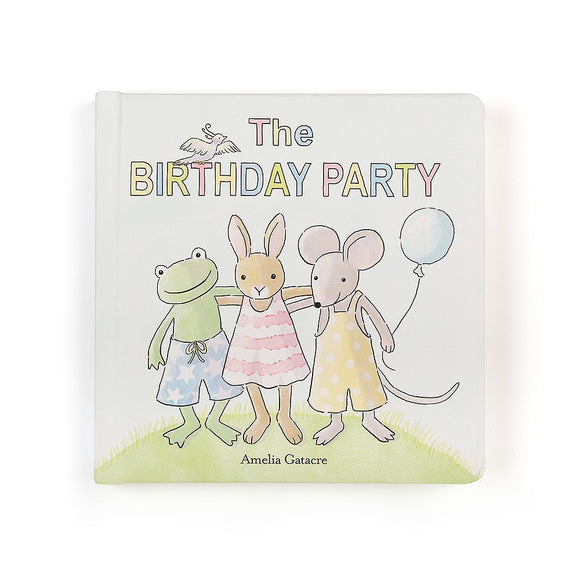 JellyCat Birthday Party Board Book - D & D Collectibles