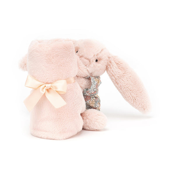 Bedtime Blossom Blush Bunny Soother by JellyCat - D & D Collectibles