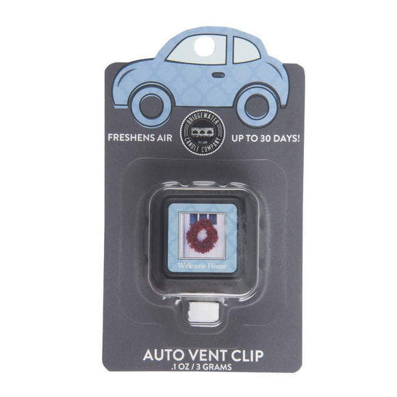 Welcome Home Auto Vent Clip By Bridgewater - D & D Collectibles