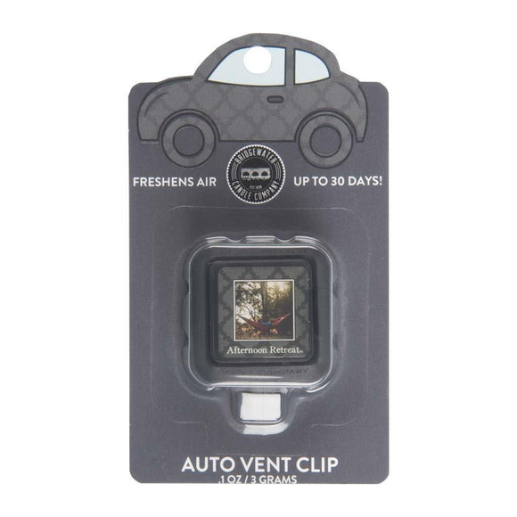 Afternoon Retreat Auto Vent Clip By Bridgewater - D & D Collectibles