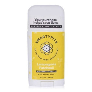 Lemongrass Patchouli Super Strength Formula with Baking Soda Deodorant by Smarty Pits - D & D Collectibles