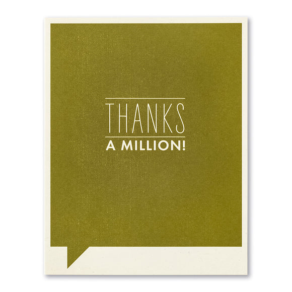 Thanks A Million! Greeting Card by Compendium - D & D Collectibles