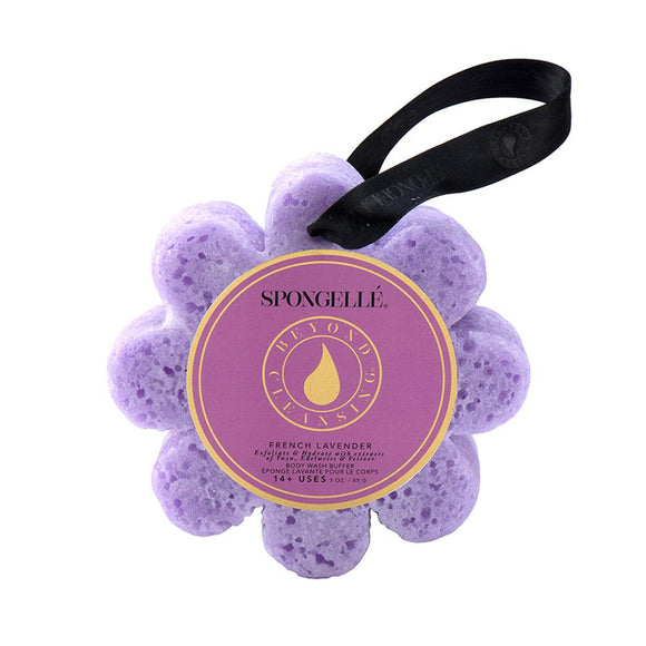 Spongelle French Lavender Wild Flower Body Wash Infused Buffer - D & D Collectibles