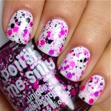 Girl Power - Polka Dot-NEON- Indie Glitter Nail Polish by Polish Me Silly - D & D Collectibles
