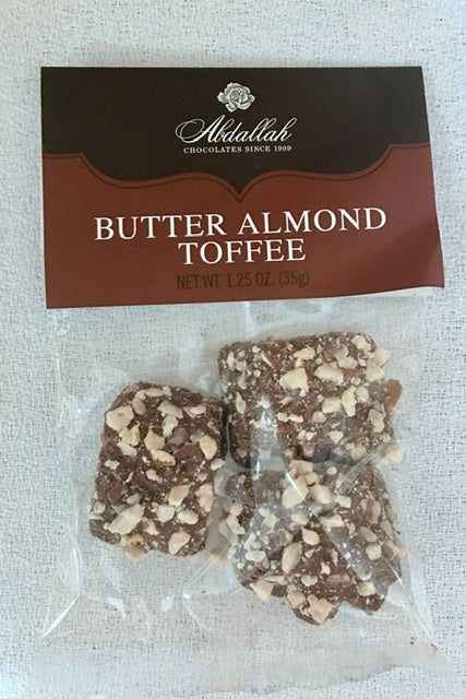 Abdallah Butter Almond Toffee 1.25 oz The Best Chocolate Ever - D & D Collectibles