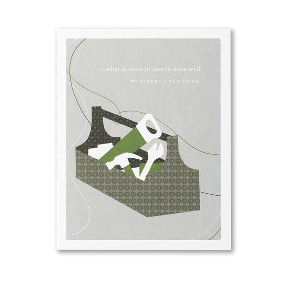 ...What IS Done In Love Is Done Well Father's Day Card by Compendium - D & D Collectibles