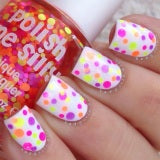 Pucker Up- Polka Dot-NEON- Indie Glitter Nail Polish by Polish Me Silly - D & D Collectibles