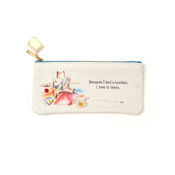 Because I Had A Teacher Zipper Pouch by Compendium - D & D Collectibles