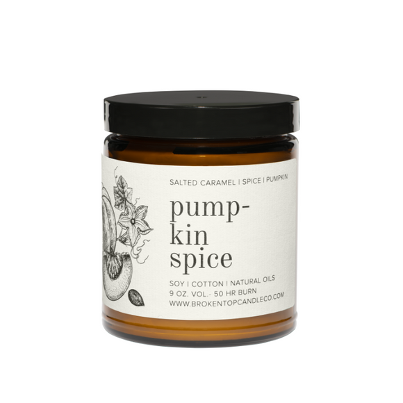 Broken Top Candle Pumpkin Spice (Salted Caramel, Spice, Pumpkin)