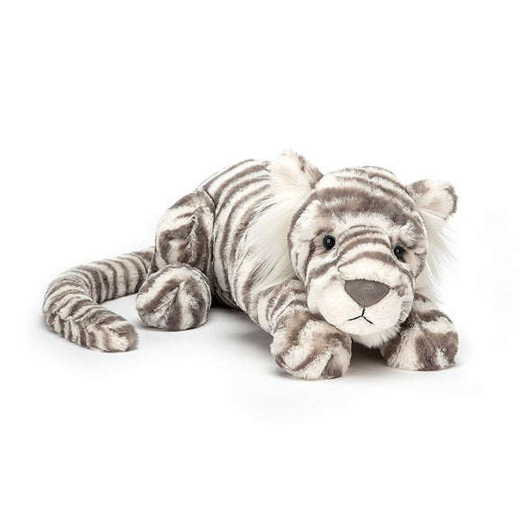 Little Sacha Snow Tiger by JellyCat - D & D Collectibles