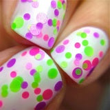 Sassy- Polka Dot-NEON Glitter Nail Polish by Polish Me Silly - D & D Collectibles