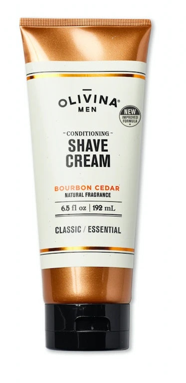 Olivina Conditioning Shave Cream Bourbon Cedar 6.5 fl oz USA - D & D Collectibles