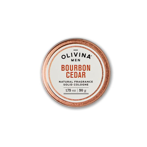 Olivina Solid Cologne Bourbon Cedar 1.75 oz Made in the USA - D & D Collectibles