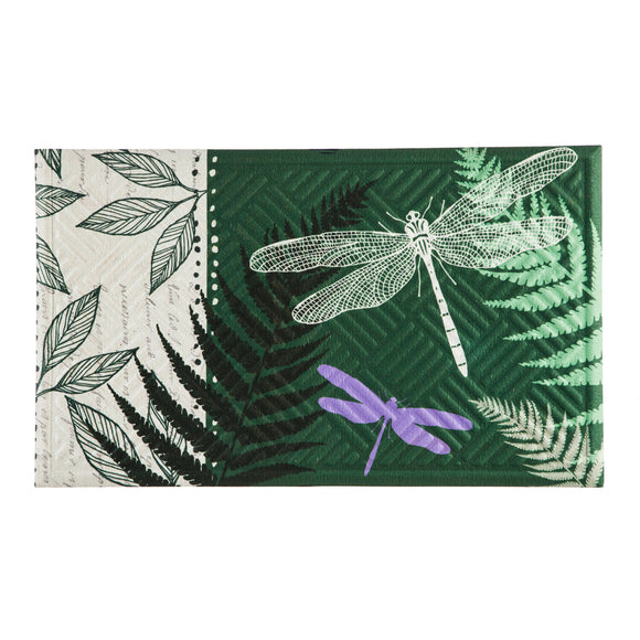 Dragonflies Embossed Floor Mat - D & D Collectibles