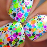 Trouble Maker- Polka Dot-NEON- Indie Glitter Nail Polish by Polish Me Silly - D & D Collectibles