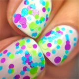 Twinkle Toes- Polka Dot-NEON- Indie Glitter Nail Polish by Polish Me Silly - D & D Collectibles