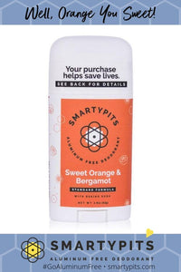 Sweet Orange Bergamot Super Strength Formula with Baking Soda Deodorant by Smarty Pits - D & D Collectibles