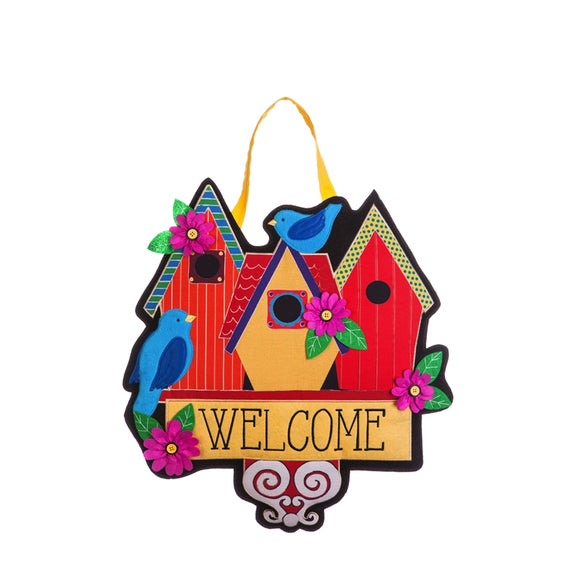 Birdhouse Welcome Door Decor - D & D Collectibles