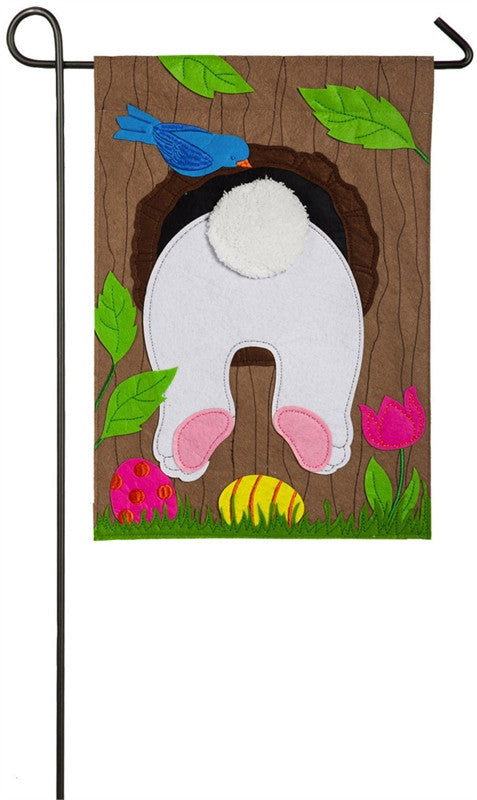 Easter Bunny Garden Flag Felt Evergreen - D & D Collectibles