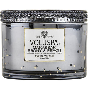 Voluspa Makassar Ebony & Peach Corta Maison Candle 11 oz Made in the USA - D & D Collectibles
