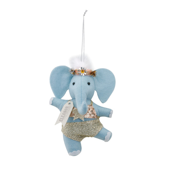 Eleanor the Elephant Christmas Ornament - D & D Collectibles