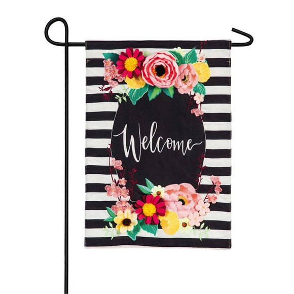 Floral Swag Welcome Garden Flag - D & D Collectibles