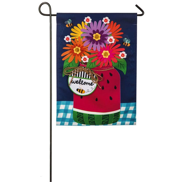 Watermelon Mason Jar Garden Flag - D & D Collectibles