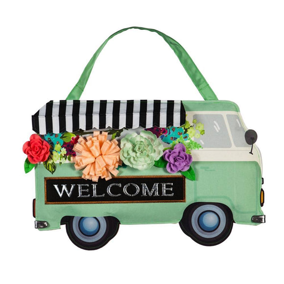Flower Truck Door Decor - D & D Collectibles