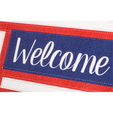 Sassafras Switch Mat Patriotic Welcome Friends  by Evergreen - D & D Collectibles