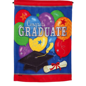 Graduation Party Garden Flag Evergreen - D & D Collectibles