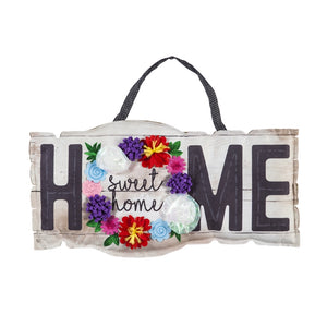 Home Sweet Home Sign Door Decor Spring / Summer - D & D Collectibles