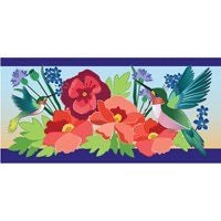 Sassafras Switch Mat Hummingbird Meadow  by Evergreen
