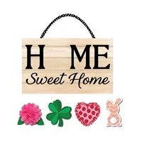Spring Interchangeable Home Sweet Home  Door Decor