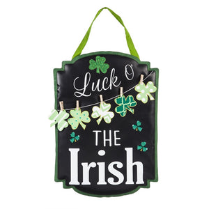St Patty's Day Luck Of The Irish Door Decor - D & D Collectibles