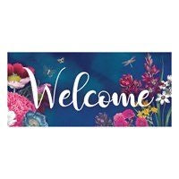 Sassafras Switch Mat Vivid Bouquet Welcome by Evergreen