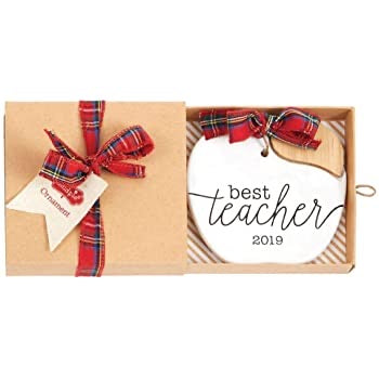 Stamped Teacher Ornament by Mud Pie